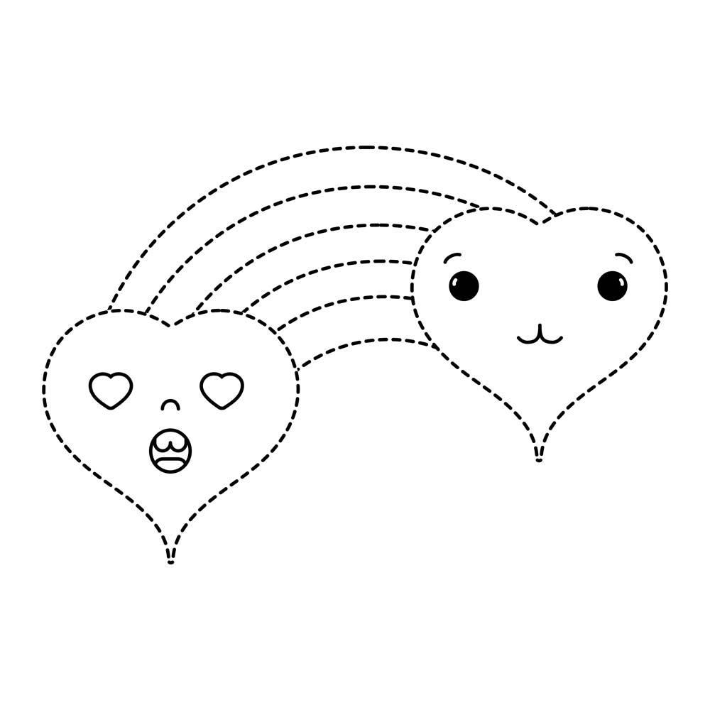 Dibujos Kawaii Para Colorear De Amor Dibujos Kawaii De Amor