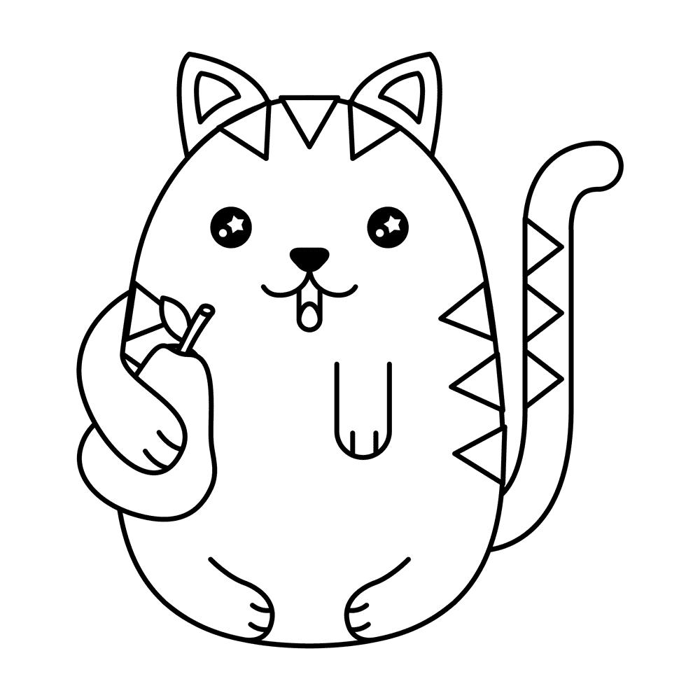 Dibujos Para Colorear Gatitos Kawaii Malvorlage Katzen Kawaii