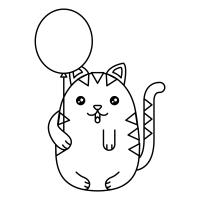 Imagenes De Gatos Kawaii Para Colorear Gatos Kawaii
