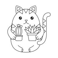 Gatos Kawaii. Imgenes de Gatitos Dibujos para Colorear y ...