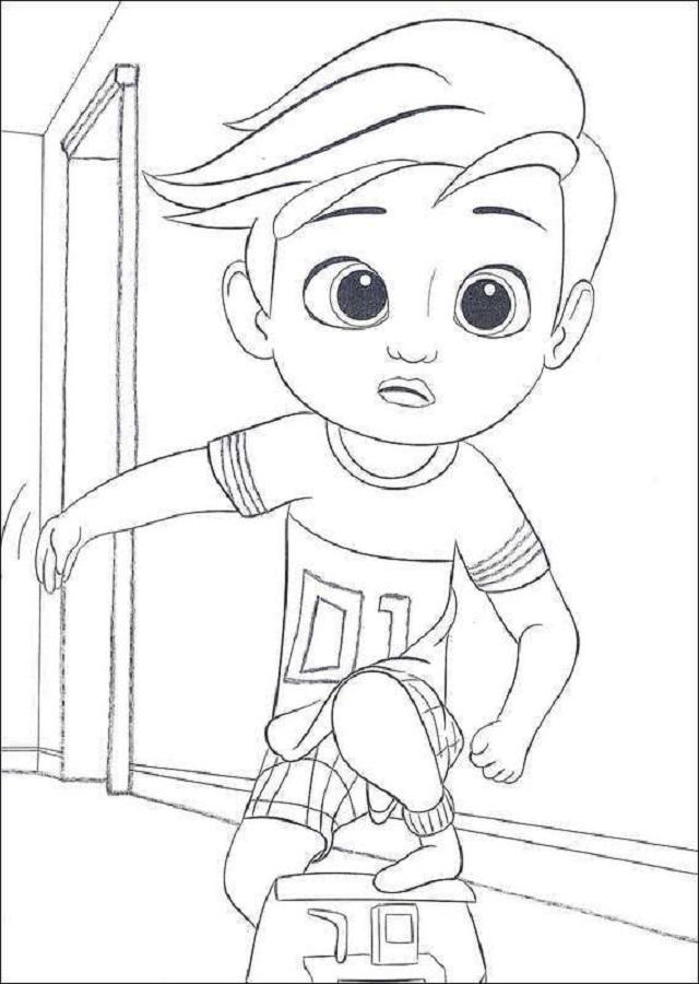 El Beb Jefazo  Dibujos para colorear