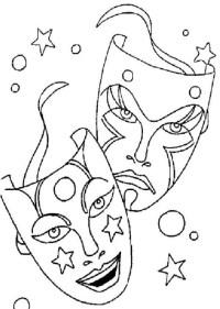Motivos De Carnaval Para Colorear Dibujos Para Colorear