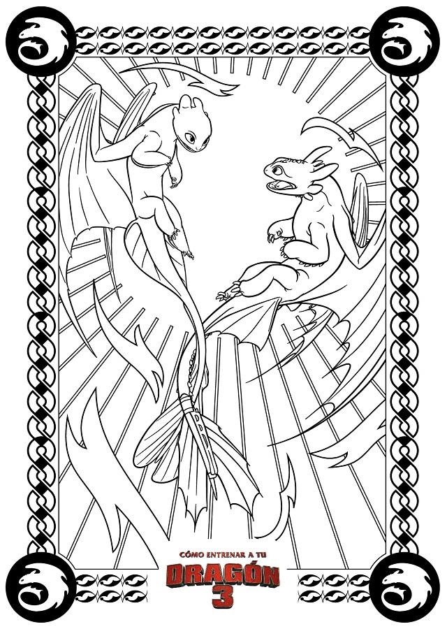 Dibujos para colorear cmo entrenar a tu dragn  Dibujos