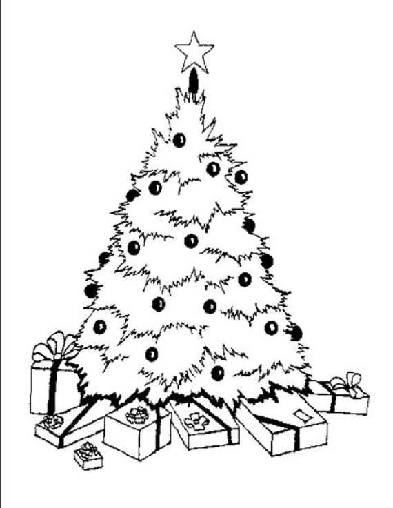 Descargar imagenes de dibujos de árboles de navidad para pintar para niños