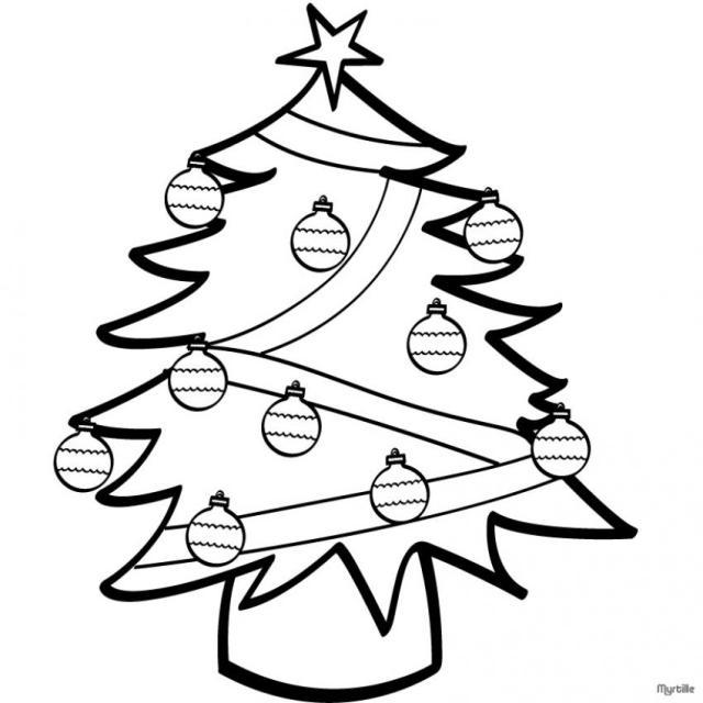 dibujos De Arboles De Navidad Para Imprimir y Colorear