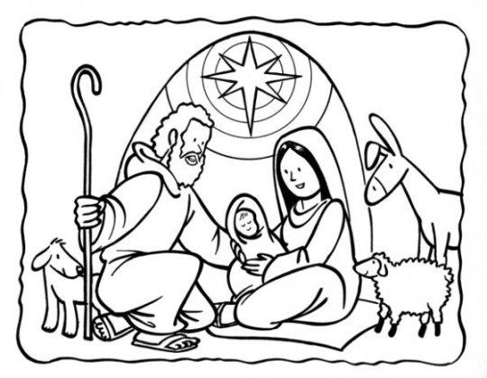 Dibujos Para Colorear Del Nacimiento De Jesus