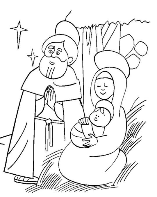 Dibujos para colorear del nacimiento de jes s for Comedor facil de dibujar
