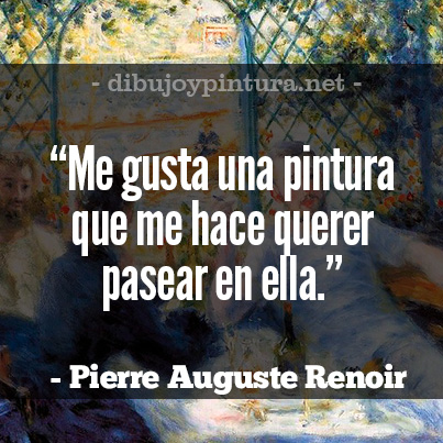 Auguste Renoir Frases pintores frasceses