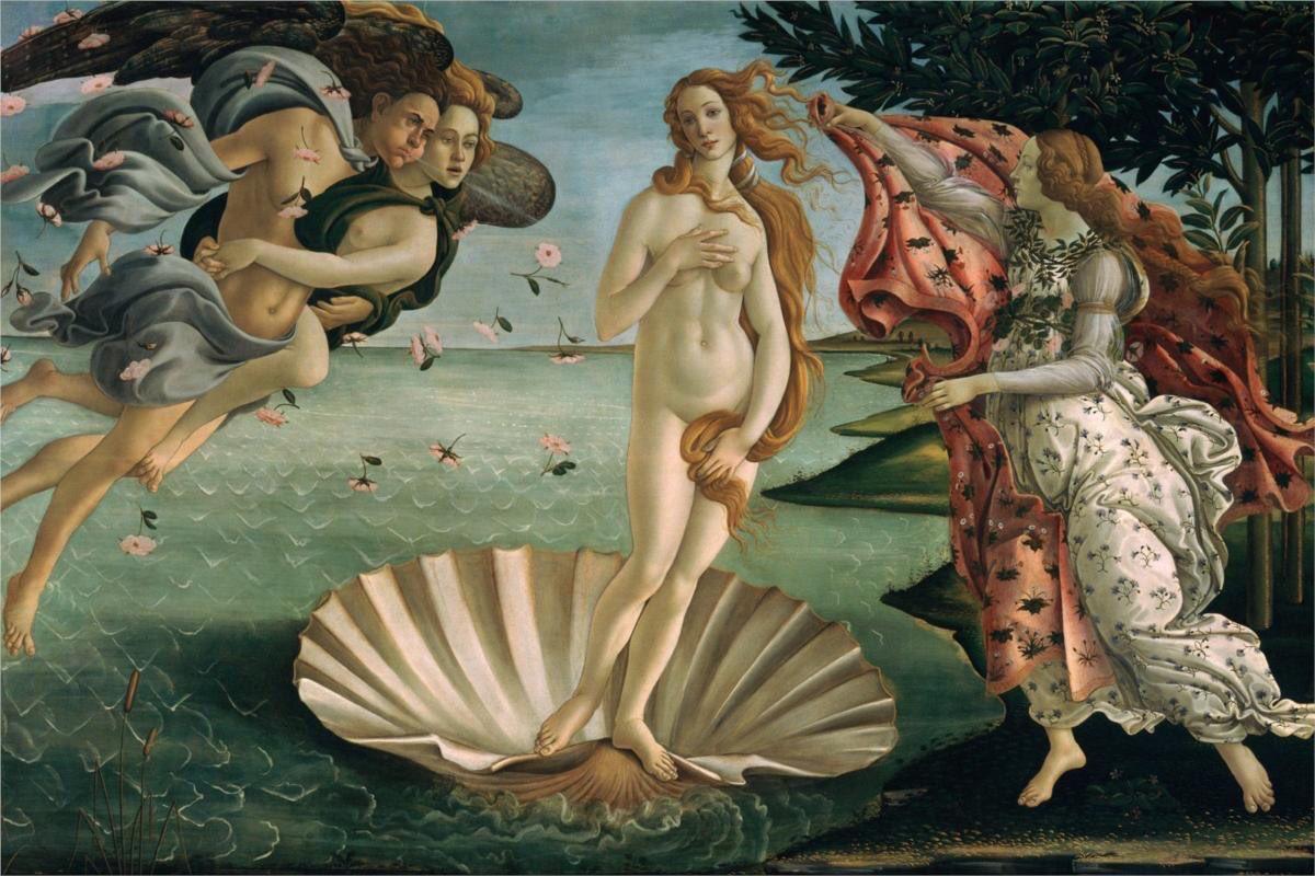El Nacimiento de Venus Del Pintor Italiano Sandro Botticelli