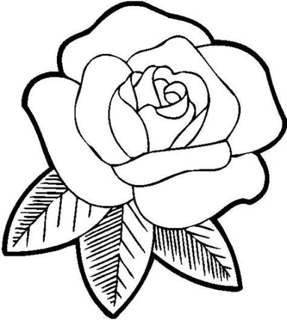 Imagenes de rosas para colorear