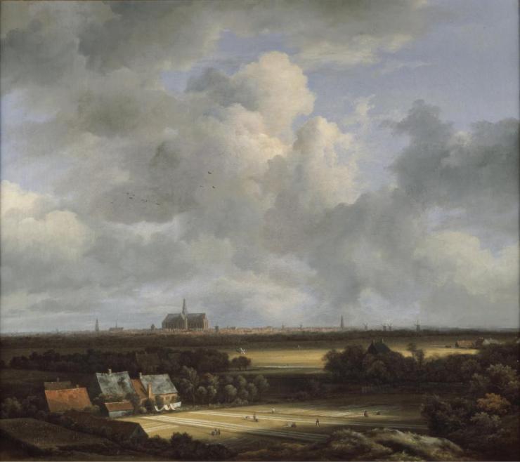 Vista de Haarlem con campos blanqueadores por Jacob Van Ruisdael
