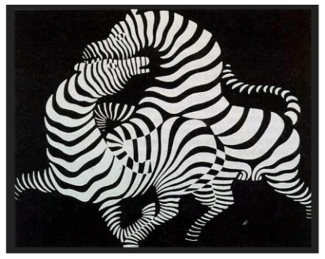 La cebra obra maestra Victor Vasarely.