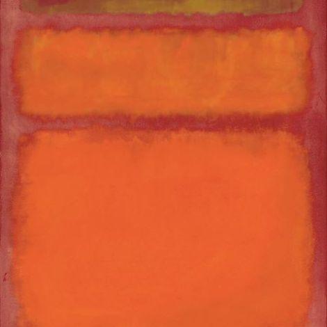 Mark Rothko obra maestra naranja, rojo, amarillo