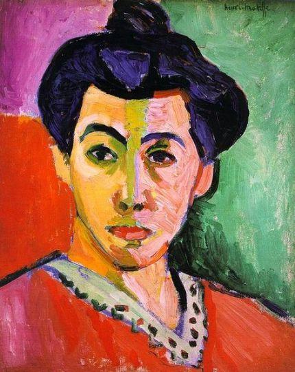 Matisse Pintor Contemporaneo-mujer con raya verde