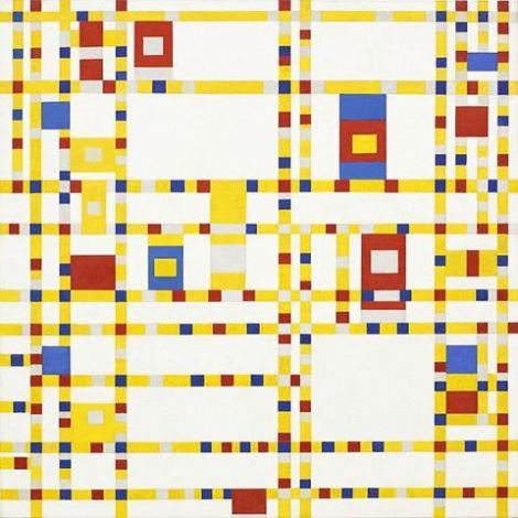 Piet Mondrian Obra maestra de arte abstracto Broadway Boogie Woogie