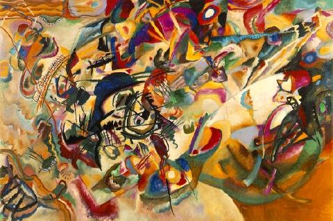 Wassily Kandinsky obra maestra pintura abstracta Composición VII