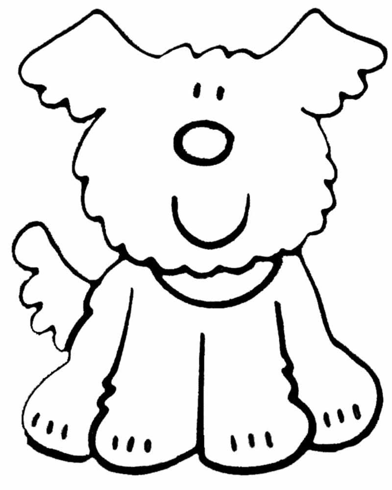 Dibujos de perros faciles para niños