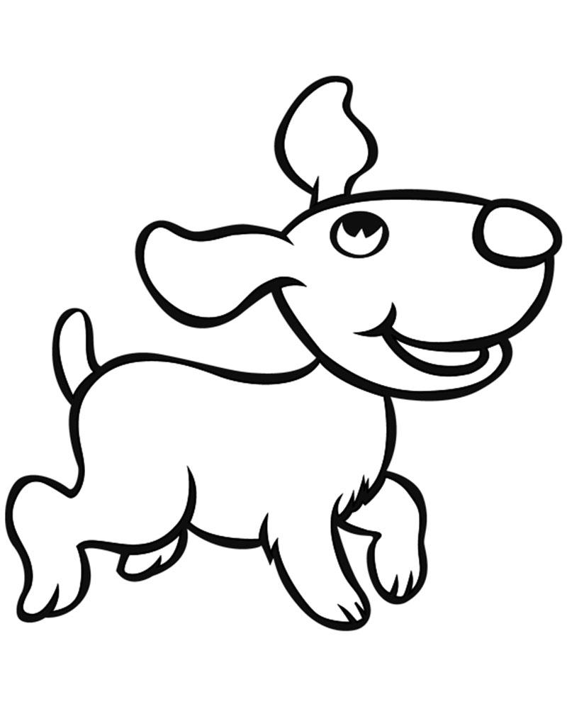 Dibujos para colorear de perros cachorros