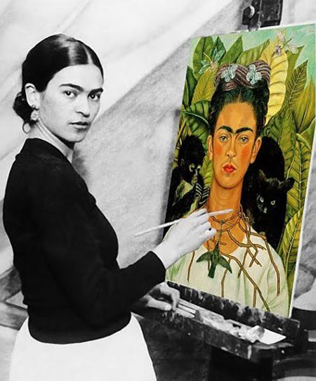 técnicas de Frida Kahlo para pintar