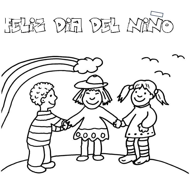 Imagenes para pintar feliz día del niño