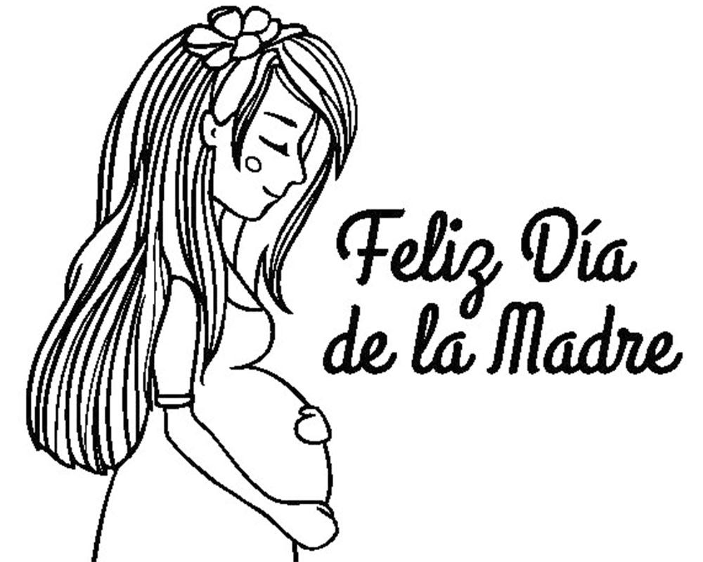Dibujos para colorear y regalar a una mamá que esta esperando bebe
