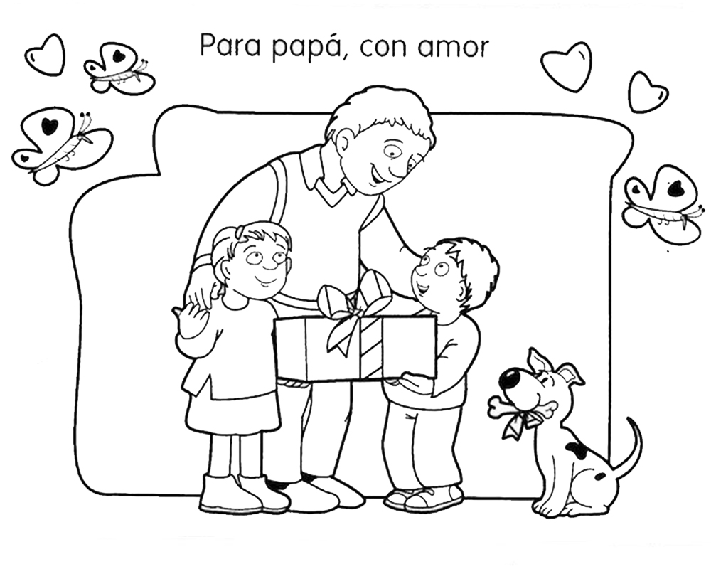Dibujos Para Colorear Del Dia Del Padre De Disney: Dia Del Padre Para Colorear