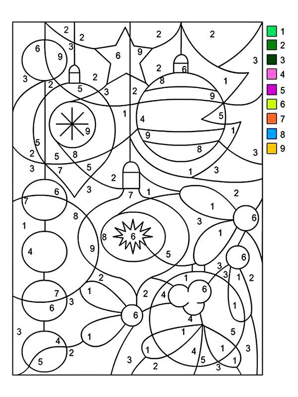 Dibujos Navideños Para Colorear Siguiendo Los Numeros