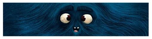 Blue monster face