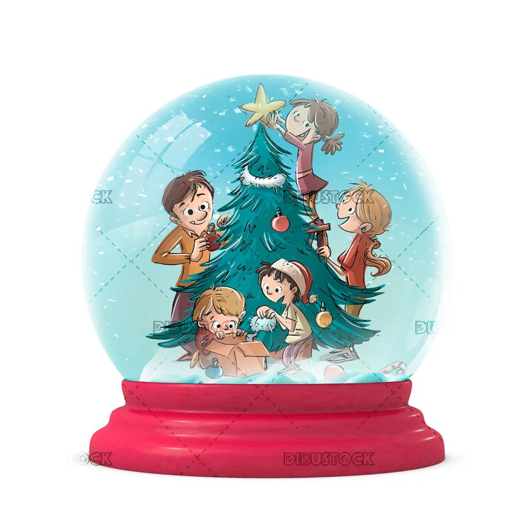 Snowball with family at Christmas