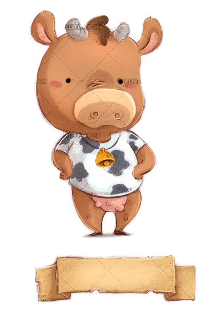 Vaca con cartel