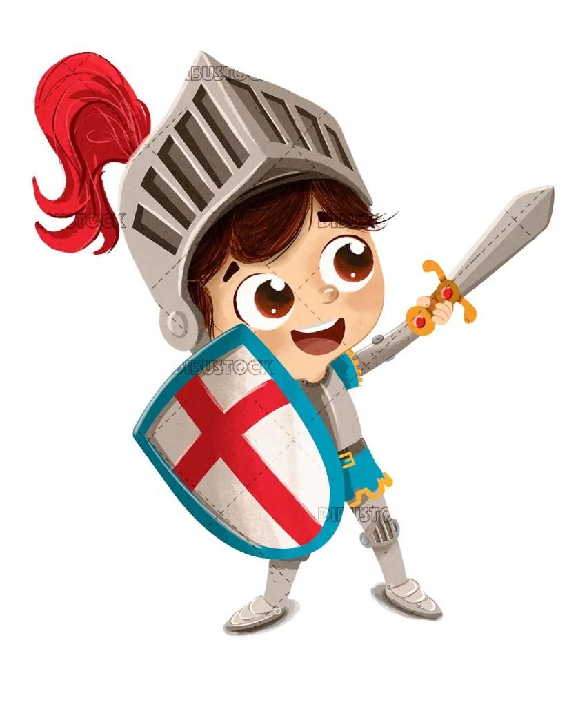 Child dressed as Sant Jordi gentleman