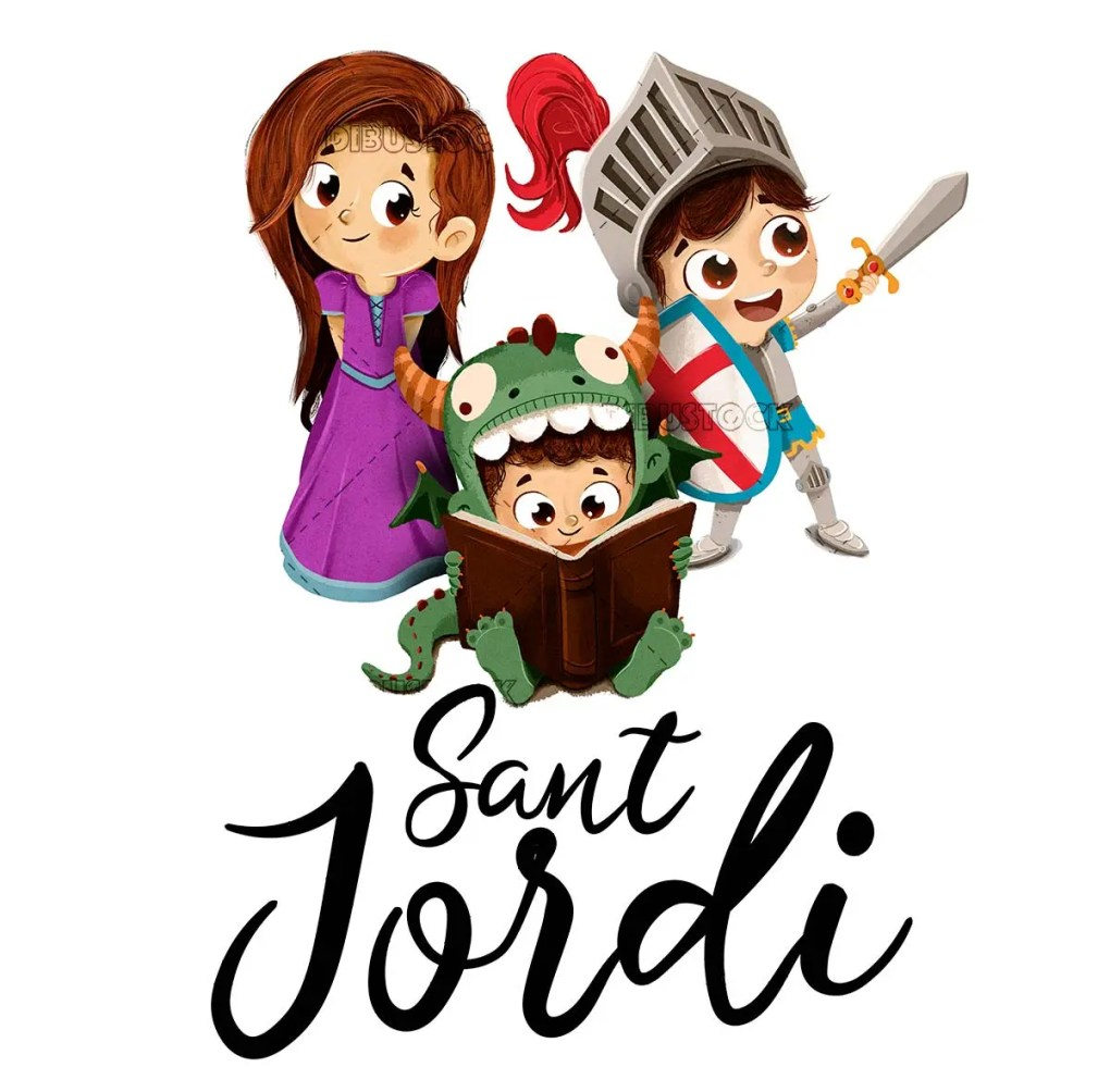 Festival of Sant Jordi. Book fair in Barcelona