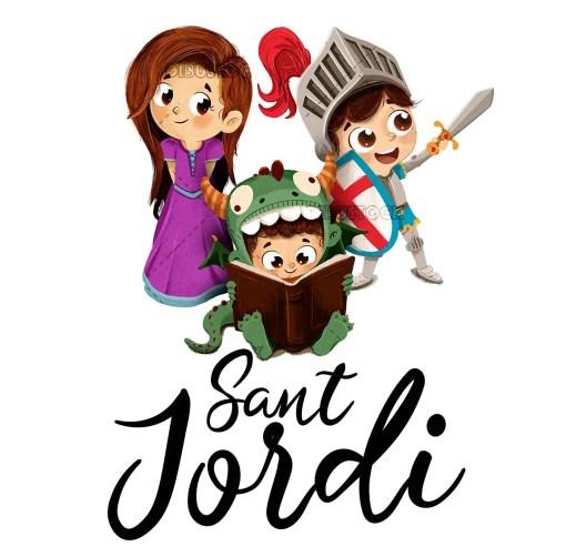 Festival of Sant Jordi. Book fair in Barcelona