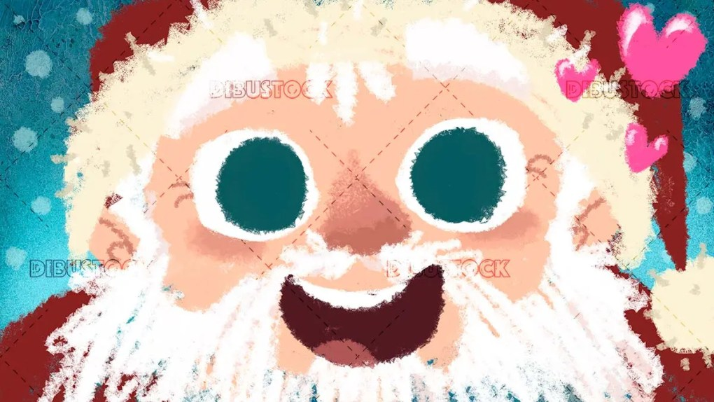 happy Santa Claus face