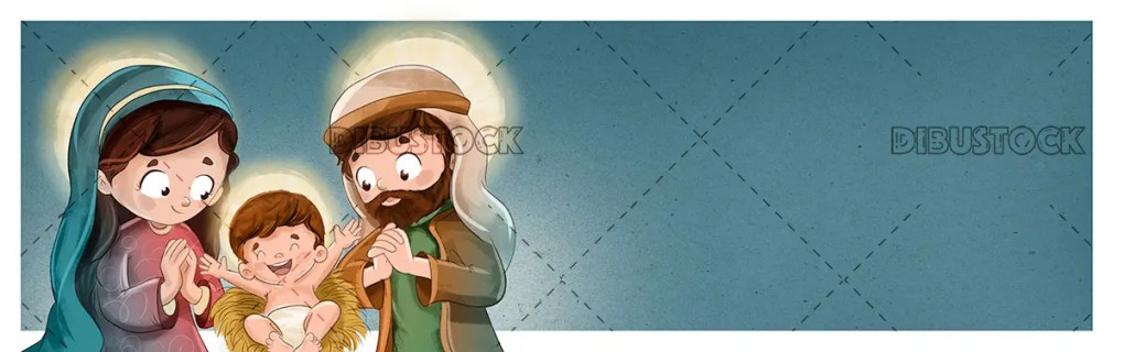 Bethlehem portal with the Virgin Mary Jesus and Saint Joseph
