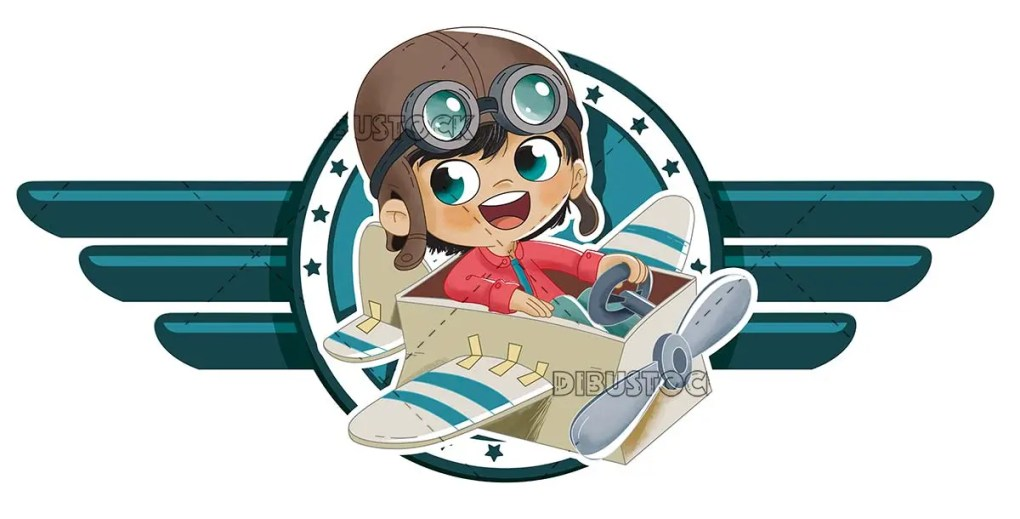 boy in a box airplane logo
