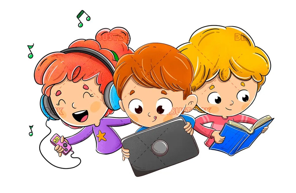 kids tablet book music