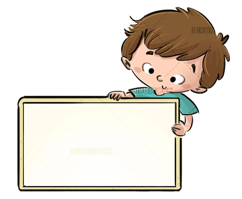 boy catching a yellow rectangular sign
