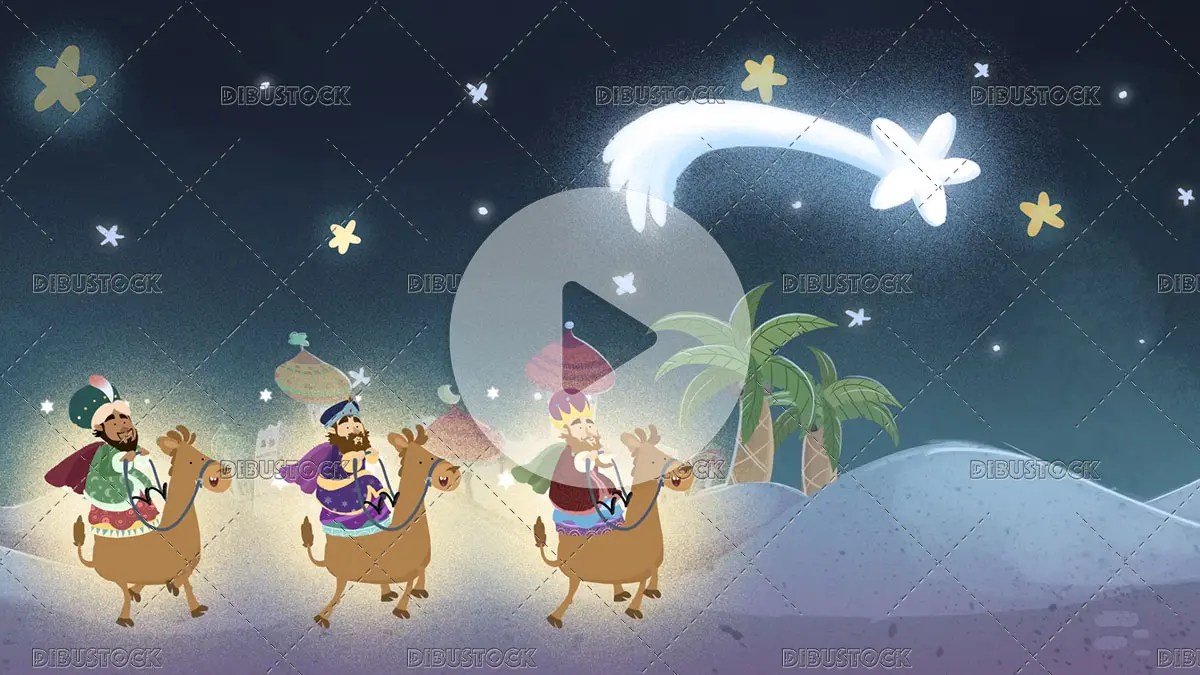 Video of the three kings following the Christmas star