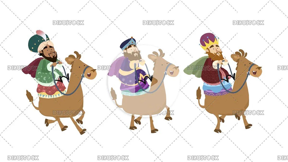Video of the three wise men with the camels
