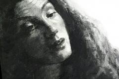 Portrait au fusain par Céline Normant