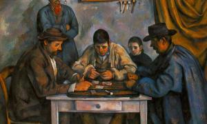 Paul Cézanne - les joueurs de cartes