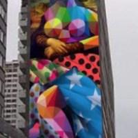 street-art une joconde de-50m dans-le-13eme