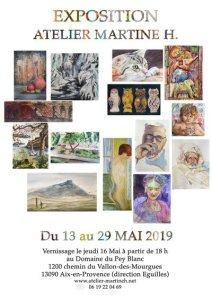 Atelier Martine H Exposition des élèves 2019