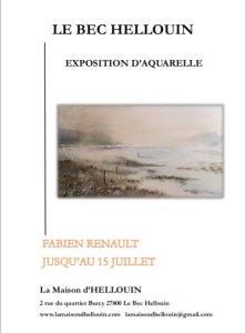 Exposition d'Aquarelle par Fabien Renault