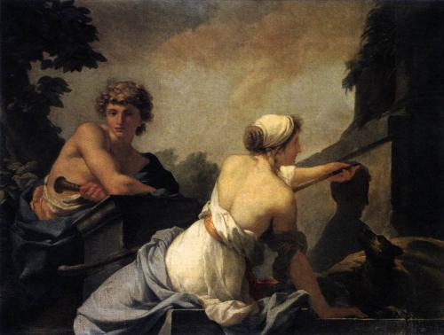 Jean-Baptiste Regnault - l'origine de la Peinture (1785)