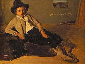 Jean-Baptiste-Camille_Corot_Jeune_italien_assis