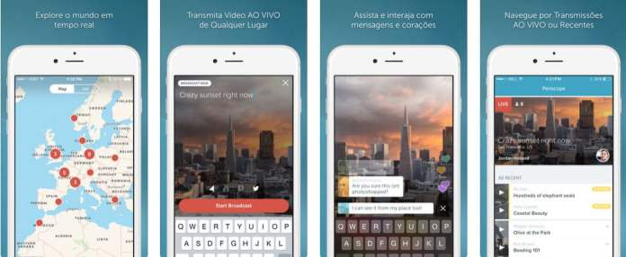 Tela Periscope iPhone - Dica App do Dia