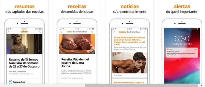 Tela do App GShow - Dica App do Dia