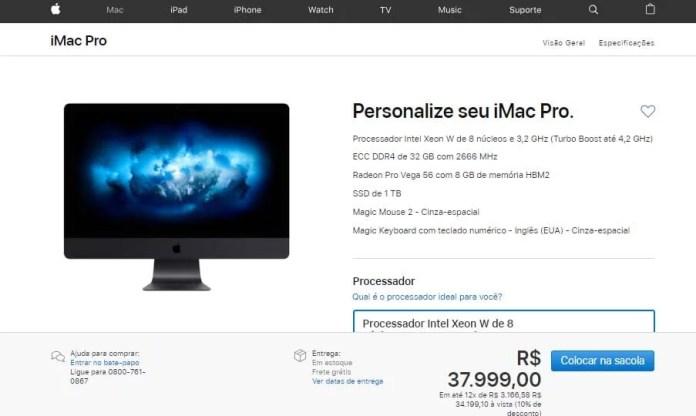 iMac Pro configuração mínima - Dica App do Dia